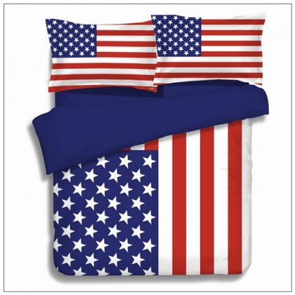 American Flag Duvet Cover Set