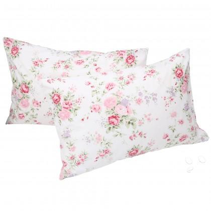 White Romance Rose Pillow Sham ( pair)