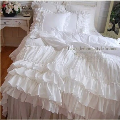 Love Sonnet White Duvet Cover Set