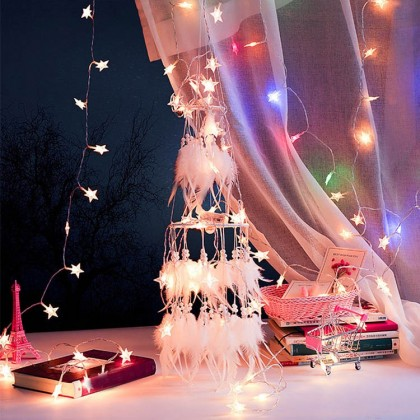 White Dream Catcher Led Fairy Light