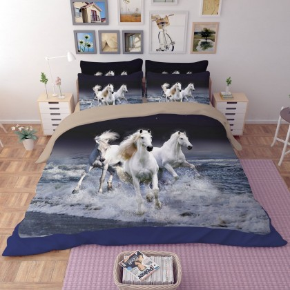 Running Horses Duvet Cover Set