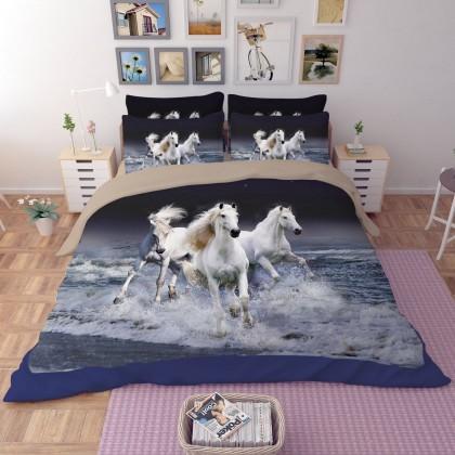 Running Horses Duvet Cover Set