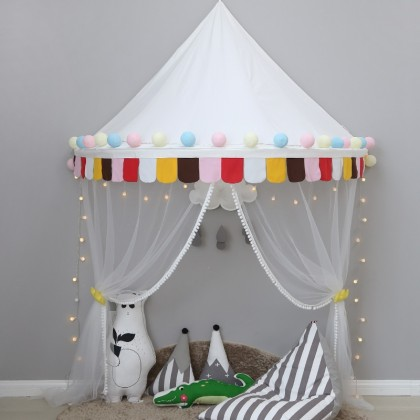 Kids Play Tent Canopy-White