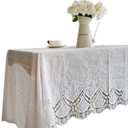 Lace Linen Tablecloth