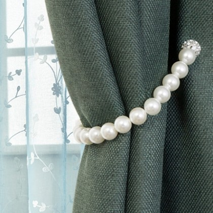 Pearl Magnetic Curtain Tiebacks