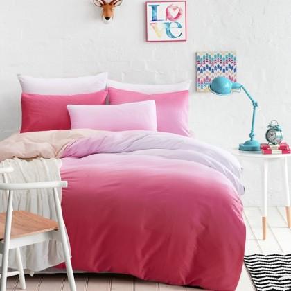Pink Gradient Duvet Cover Set