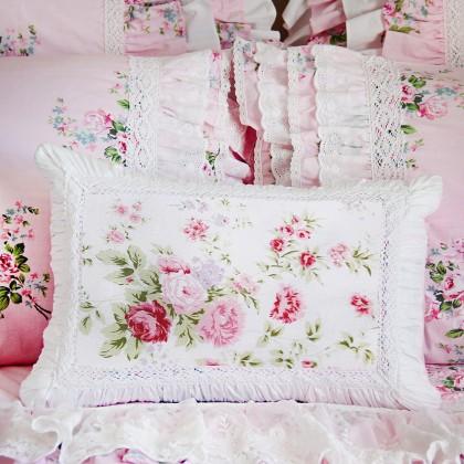 White Romance Decorative Cushion Cover
