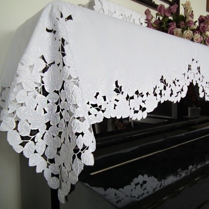 Embroidery Baroque Piano Cover