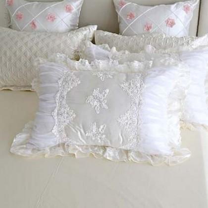 White Cottage Lace Pillow Sham