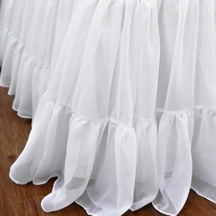 Chiffon Ruffle Bed Skirt