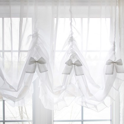 Princess White Sheer Balloon Curtain Shade