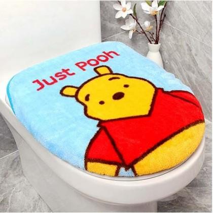 Winnie The Pooh Toilet Seat Lid Cover 2pcs set Blue