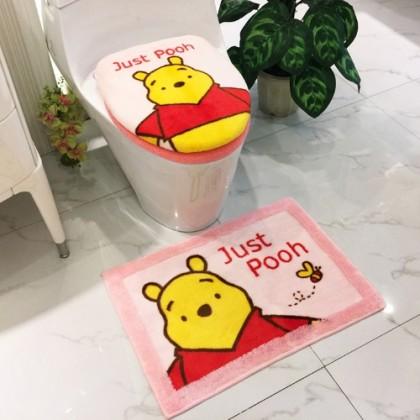Winnie The Pooh Toilet Seat Lid Cover 2pcs set Pink