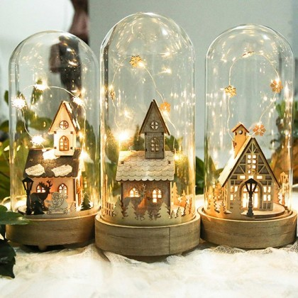 Cottage House Fairy Light Handmade Music Box