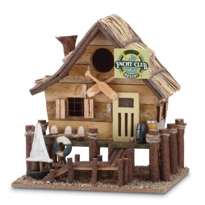 Wooden Yacht Club Bird House