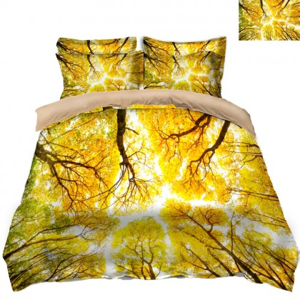 Fall Scenery Duvet Covet Set- D