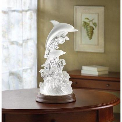 Lighted Dolphin Figurine