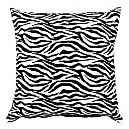 Zebra Stripe Print Cushion Cover