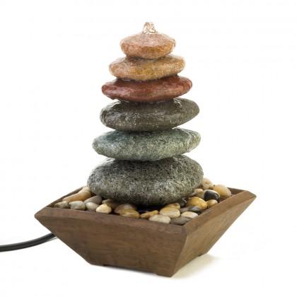 Zen Stacked Stone Fountain