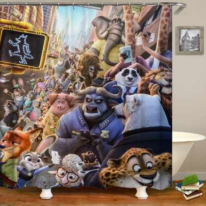Zootopia Shower Curtain