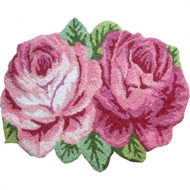 Victorian Double Roses Rug