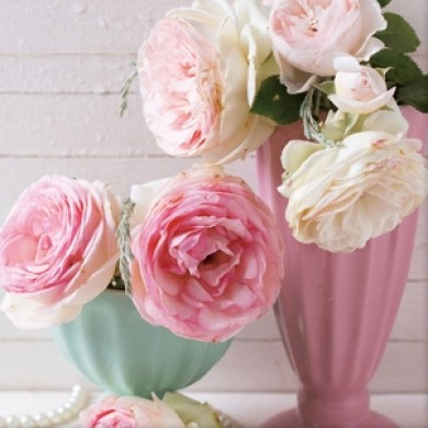 Shabby Vintage Roses Print