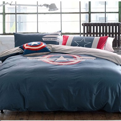 Glow in Dark Captain America Duvet Cover Set