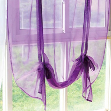 Voile Tie Up Balloon Shade