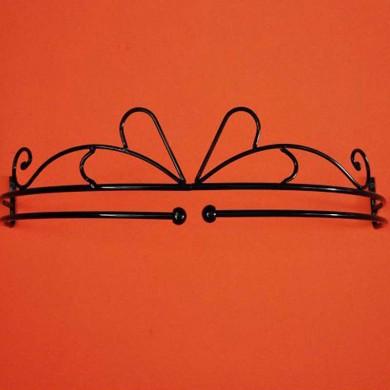 Black Bed Crown Set-Single Rod