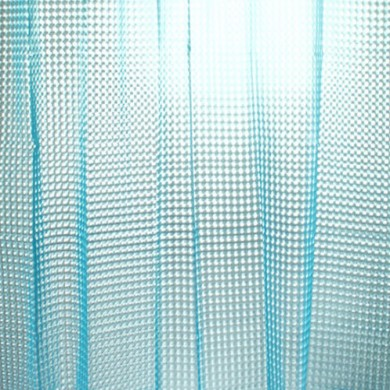 3D Blue Flourish Diamond Shower Curtain