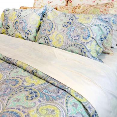 Blue Paisley Egyptian Cotton Duvet Cover Set