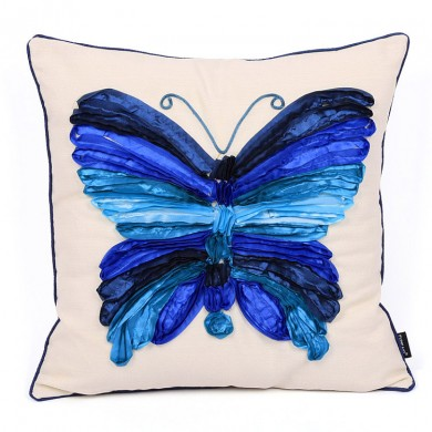 Butterfly Cushion Cover, Blue