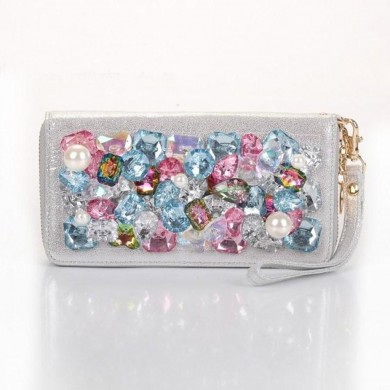 Gemstone Purse, White
