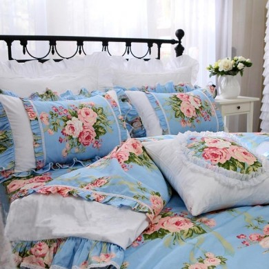 Blue Farmhouse Duvet Cover Set