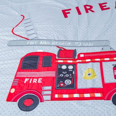 Fire Truck Duvet Cover Set