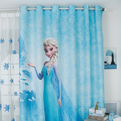 Blue Frozen Elsa Curtain Set