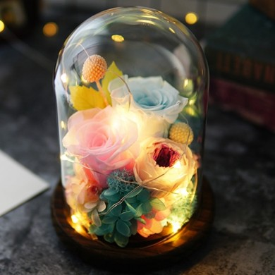 Glass Dome Roses Fairy Tale