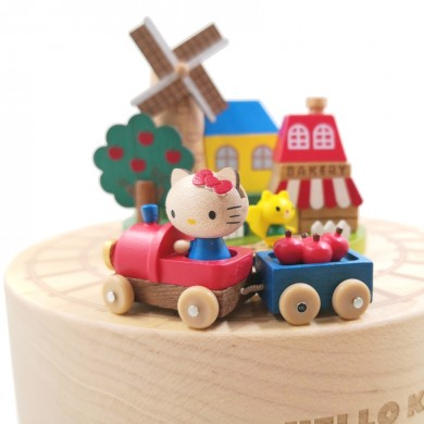 Hello Kitty Travel Train Music Box