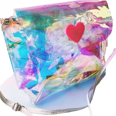 Holographic Iridescent Shimmer Bling Shining Purse