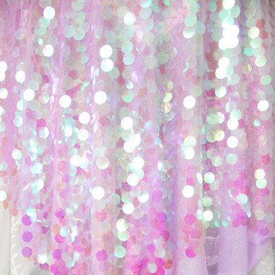 Purple Blink Iridescent Holographic Sequin Fabric