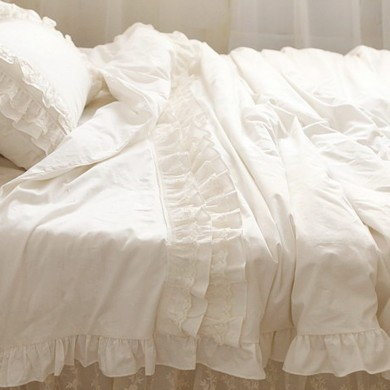 Lace Duvet Cover Set, Ivory