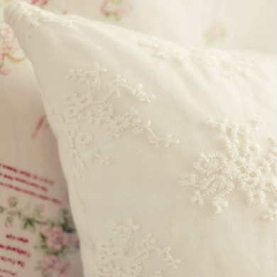 Embroidery Lace Cushion Cover