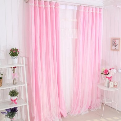 Simply Elegant Pink Tulle Panel