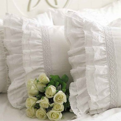 Lace Love Duvet Cover Set, White