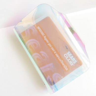 Holographic Iridescent Card Holder