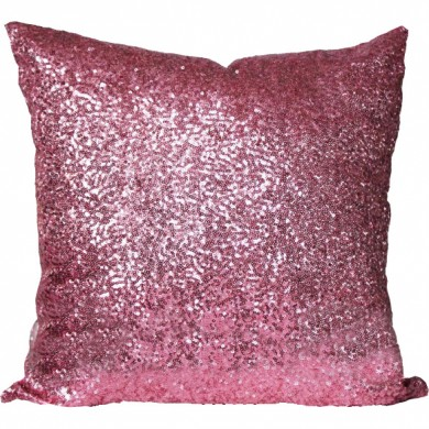 Pink Sequin Cushion Cover