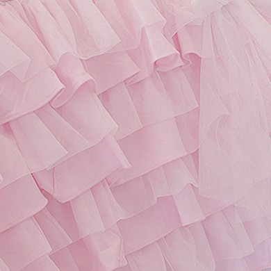 Pink Multi Ruffle Bed Skirt