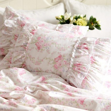 Cottage Rose Double Ruffle Sham
