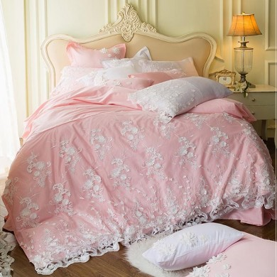 Dream Wedding Egyptian Cotton Duvet Cover Set-Pink