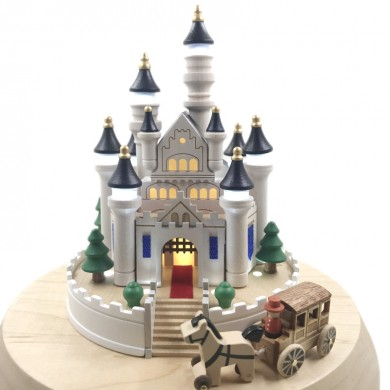 Castle Princess Carriage Wooden Music Box